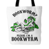 Bookworm? Please, I'm A Bookwyrm Tote Bag - Awesome Librarians
