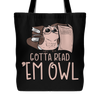 Gotta Read 'Em Owl Tote Bag - Awesome Librarians