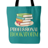 Professional Bookworm Tote Bag - Awesome Librarians
