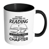 I'm Not Addicted To Reading I Can Quit As Soon As I Finish One More Chapter Accent Mug