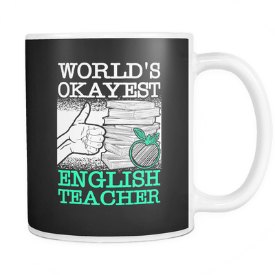 World's Okayest English Teacher Mug