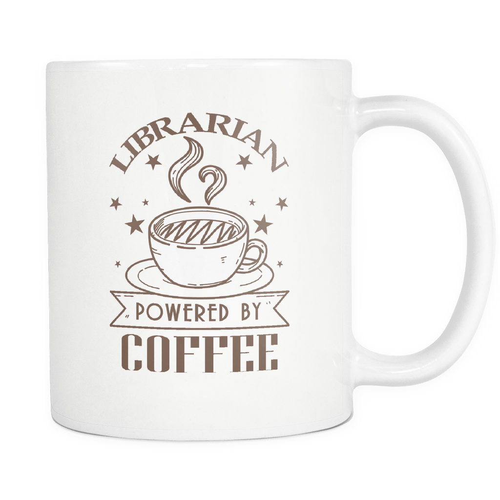 Librarian Powered By Coffee 11oz Mug - Awesome Librarians