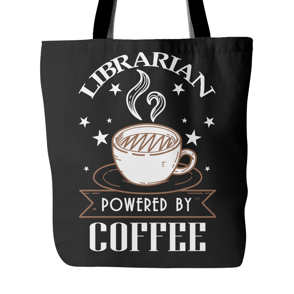 Librarian Powered By Coffee Tote Bag - Awesome Librarians