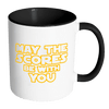 May The Scores Be With You Accent Mug