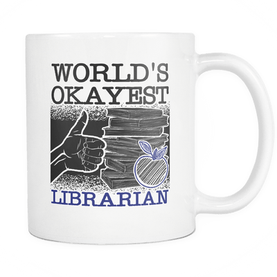 World's Okayest Librarian Mug