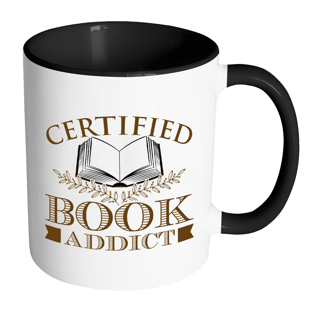 Certified Book Addict 11oz Accent Mug - Awesome Librarians