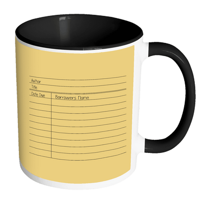 Library Card 11oz Accent Mug