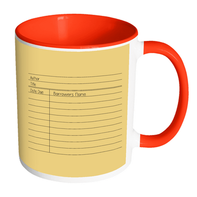 Library Card 11oz Accent Mug - Awesome Librarians