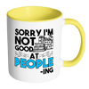 Sorry I'm Not Good At People-ing 11oz Accent Mug - Awesome Librarians