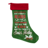 Don't Interrupt A Reader Because If You Do I Will Give Your Number Christmas Stocking - Awesome Librarians