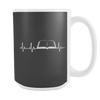 Heartbeat Of A Book Lover 15oz Mugs - Awesome Librarians