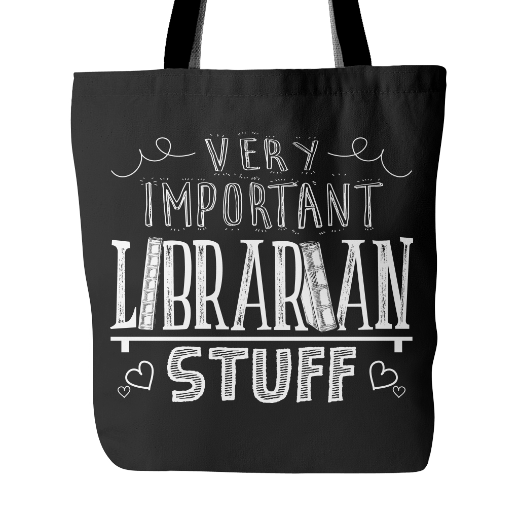 Very Important Librarian Stuff Tote Bag
