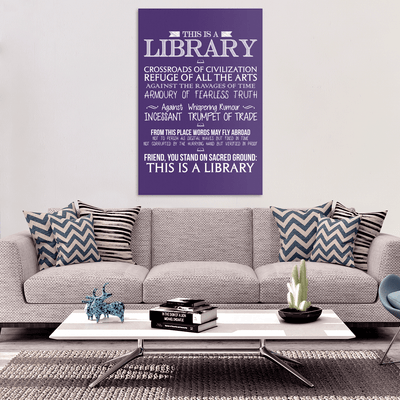 This Is A Library Canvas Wrap - Awesome Librarians