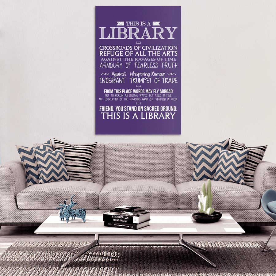 This Is A Library Canvas Wrap