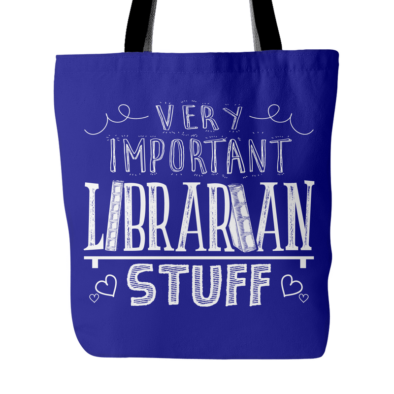 Very Important Librarian Stuff Tote Bag - Awesome Librarians