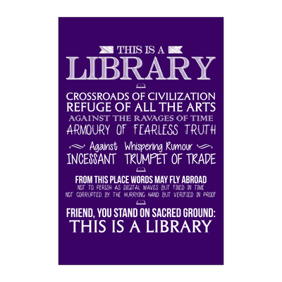 This Is A Library Crossroads Of Civilization Poster - Awesome Librarians - 2
