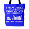 I Know Where To Find Any Information You Might Need What's Your Superpower? Tote Bag - Awesome Librarians