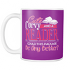 Cute, Curvy And A Reader Could This Package Be Any Better? Mug - Awesome Librarians