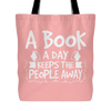 A Book A Day Keeps The People Away Tote Bag - Awesome Librarians