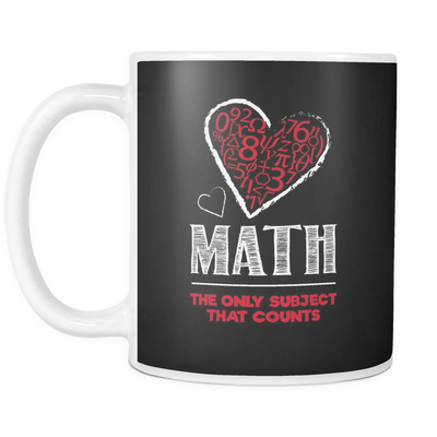 Math The Only Subject That Counts Mug - Awesome Librarians