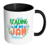Reading Is My Jam Accent Mug