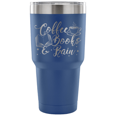 Coffee Books & Rain 30oz Tumbler - Awesome Librarians