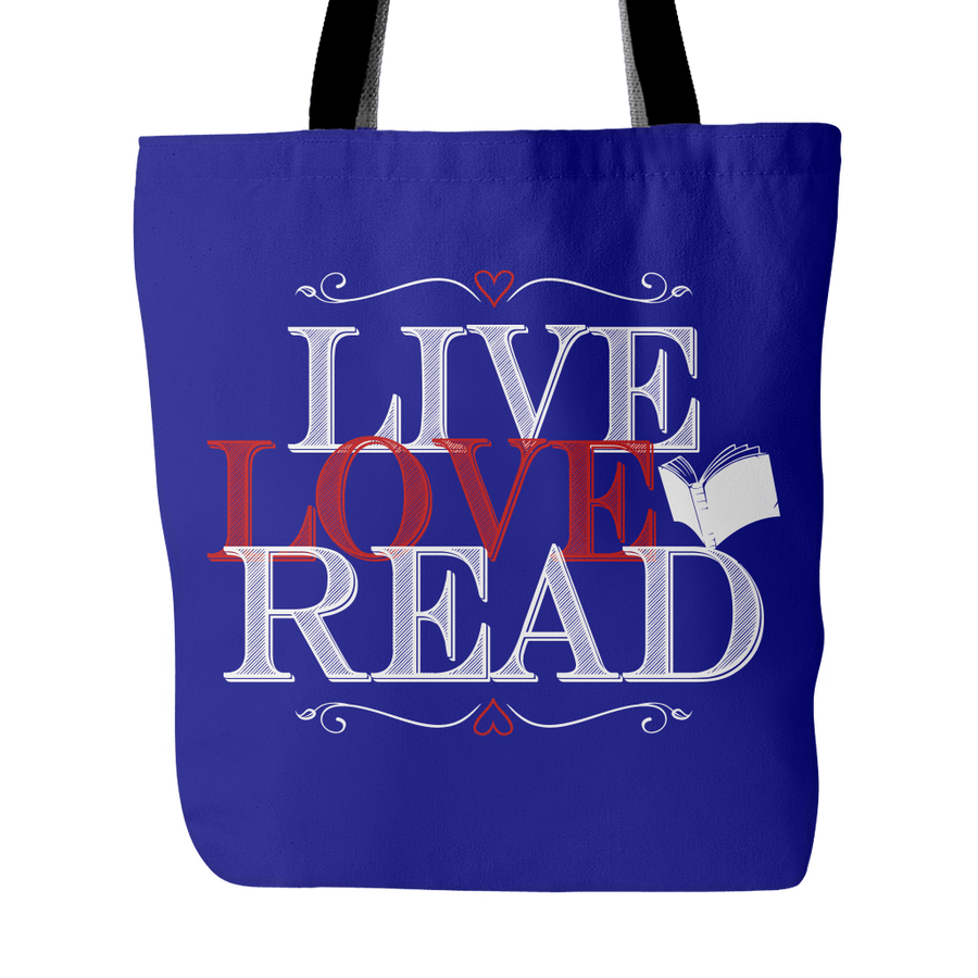 Live, Love, Read Tote Bag