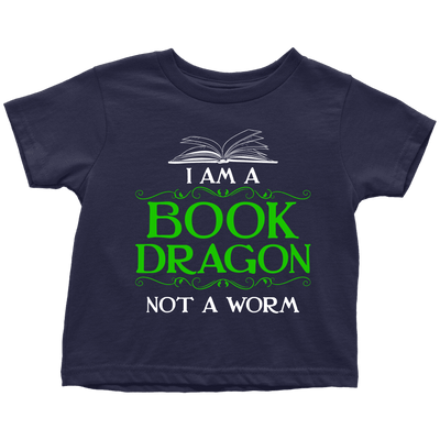 I Am A Book Dragon Not A Worm Youth Shirts - Awesome Librarians