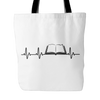 Heartbeat Of A Book Lover Tote Bag - Awesome Librarians