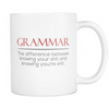 Grammar The Difference Between Knowing Your Shit And Knowing Your're Shit 11oz Mug - Awesome Librarians