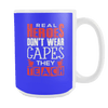 Real Heroes Don't Wear Capes They Teach 15oz Mug - Awesome Librarians