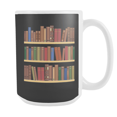 Book Shelves 15oz Mug