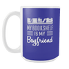 My Bookshelf Is My Boyfriend 15oz Mug - Awesome Librarians