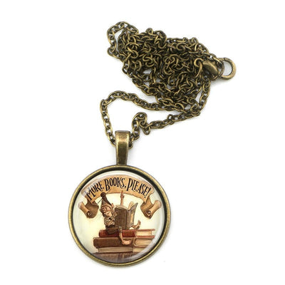More Books, Please! Bronze Necklaces For Readers - Awesome Librarians - 1