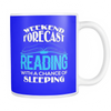 Weekend Forecast Reading With A Chance Of Sleeping Mug - Awesome Librarians - 15