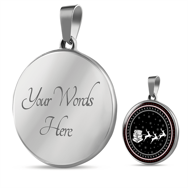 Bookworm Christmas Necklace - Awesome Librarians