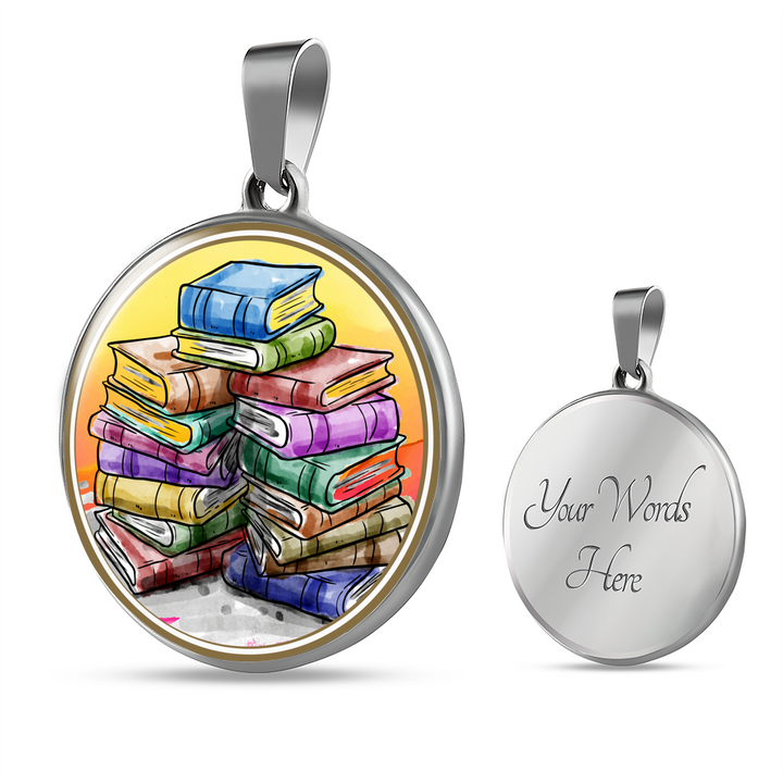 Stack Of Books Necklace