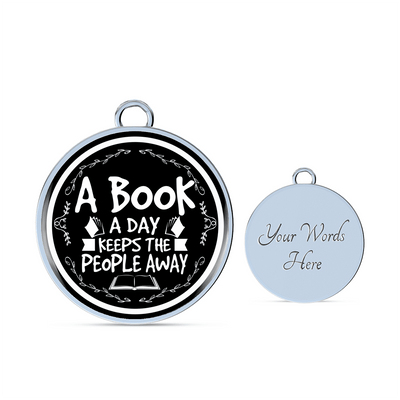 A Book A Day Keeps The People Away Bracelet - Awesome Librarians