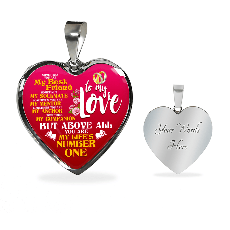 To My Love My Life's Number One Heart Bangle Bracelet - Awesome Librarians