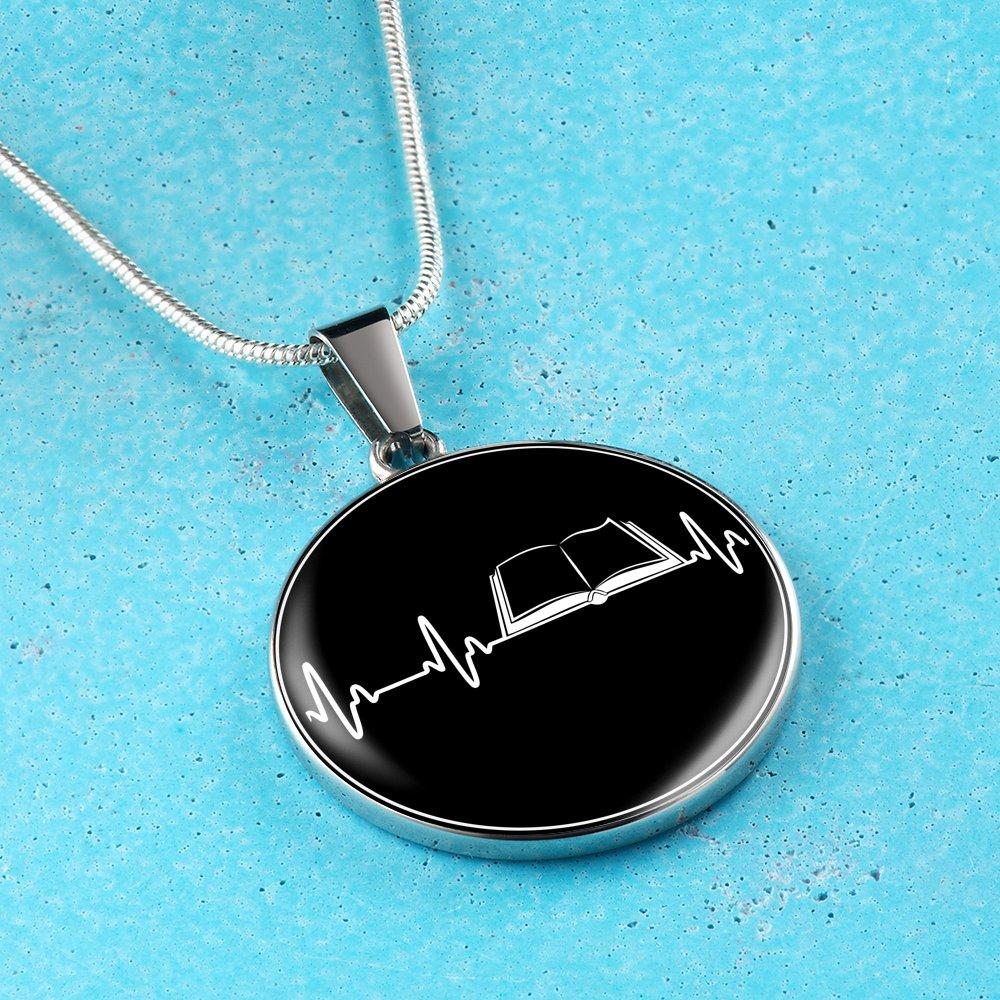Book Heartbeat Necklace - Awesome Librarians