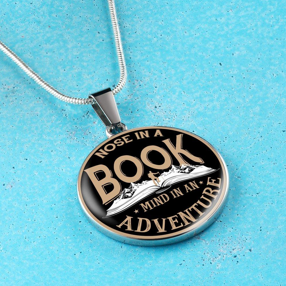 Nose In A Book Mind In An Adventure Necklace - Awesome Librarians