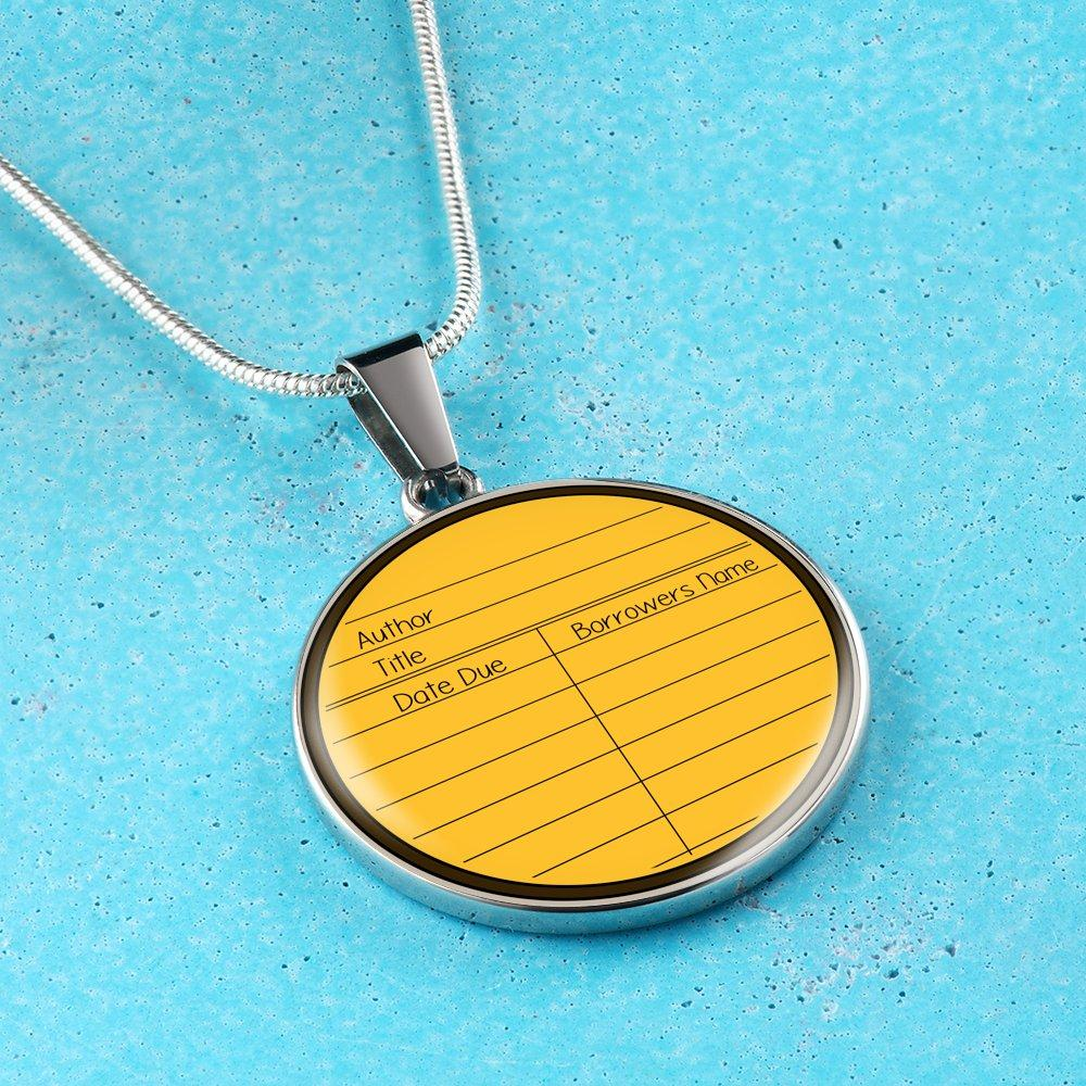 Due Date Card Necklace - Awesome Librarians