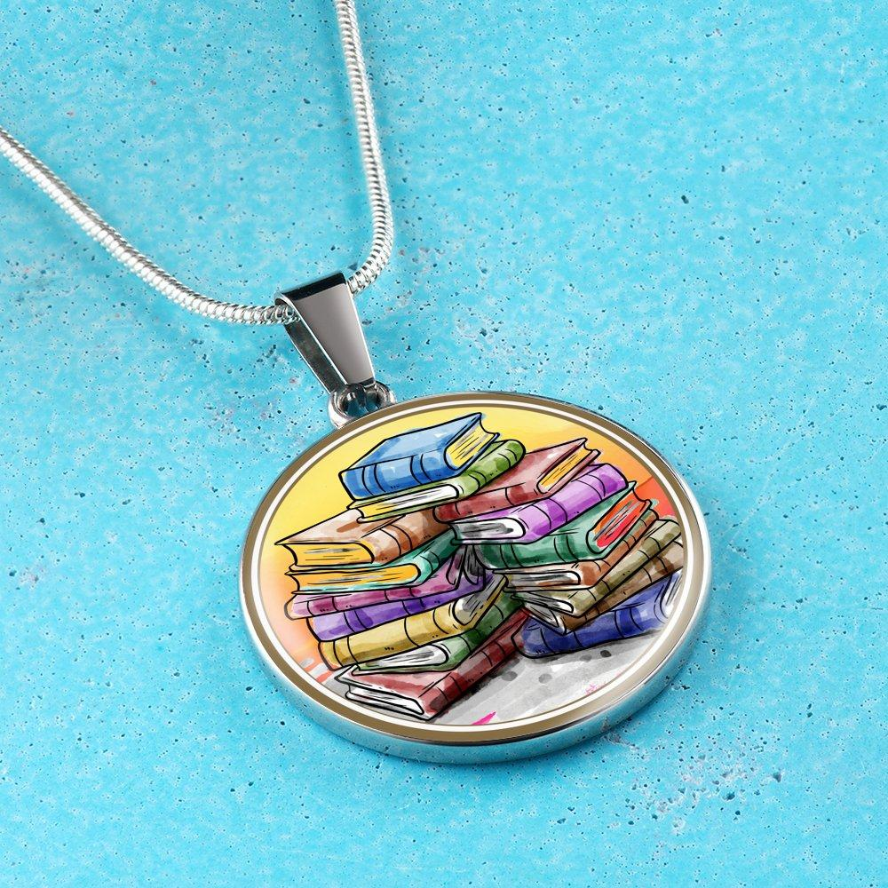 Stack Of Books Necklace - Awesome Librarians