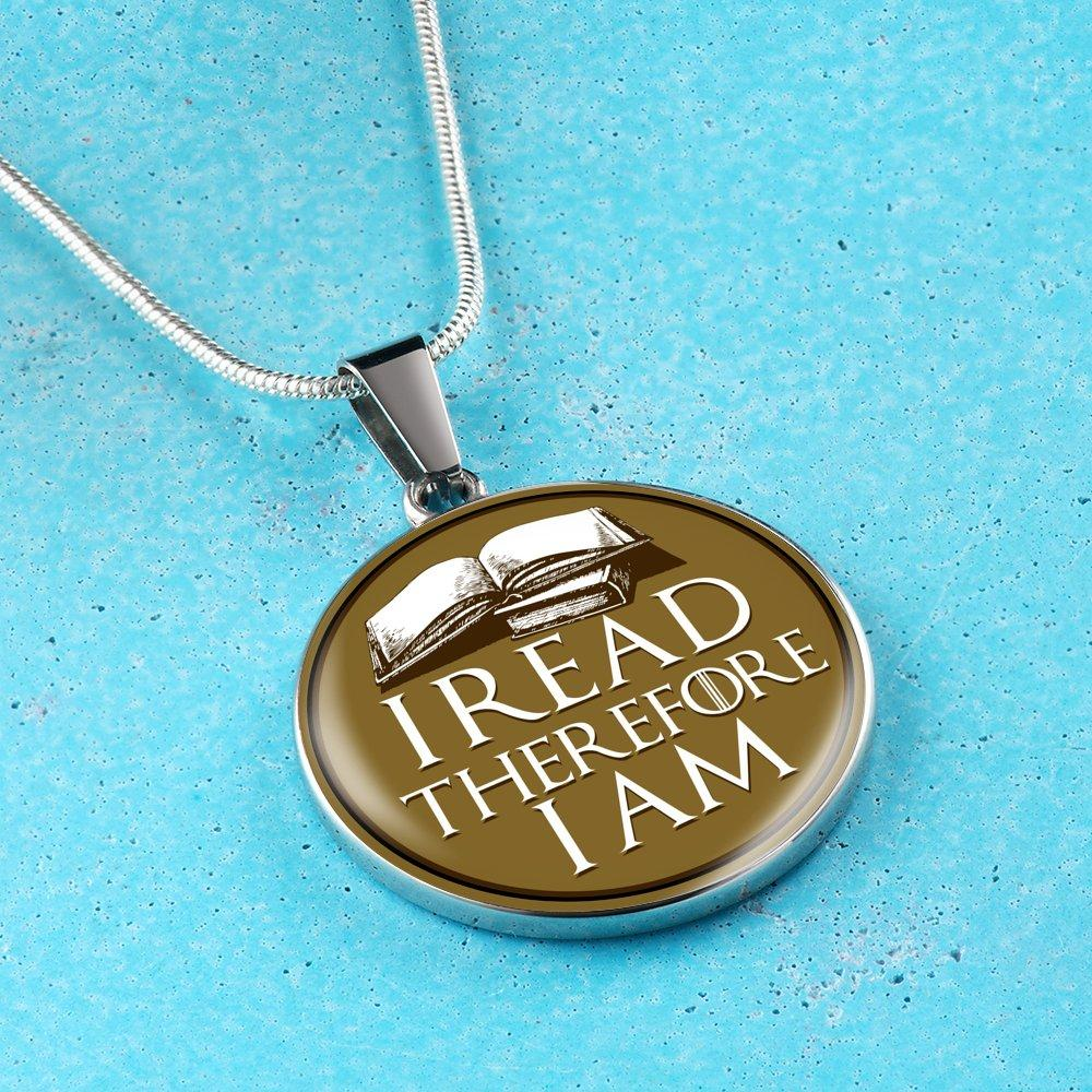 I Read Therefore I Am Necklace - Awesome Librarians