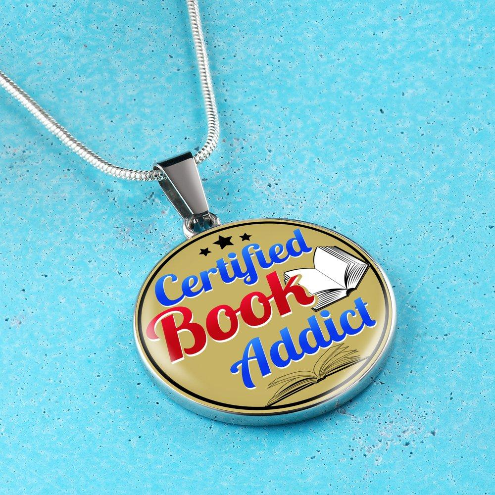 Certified Book Addict Nacklace - Awesome Librarians