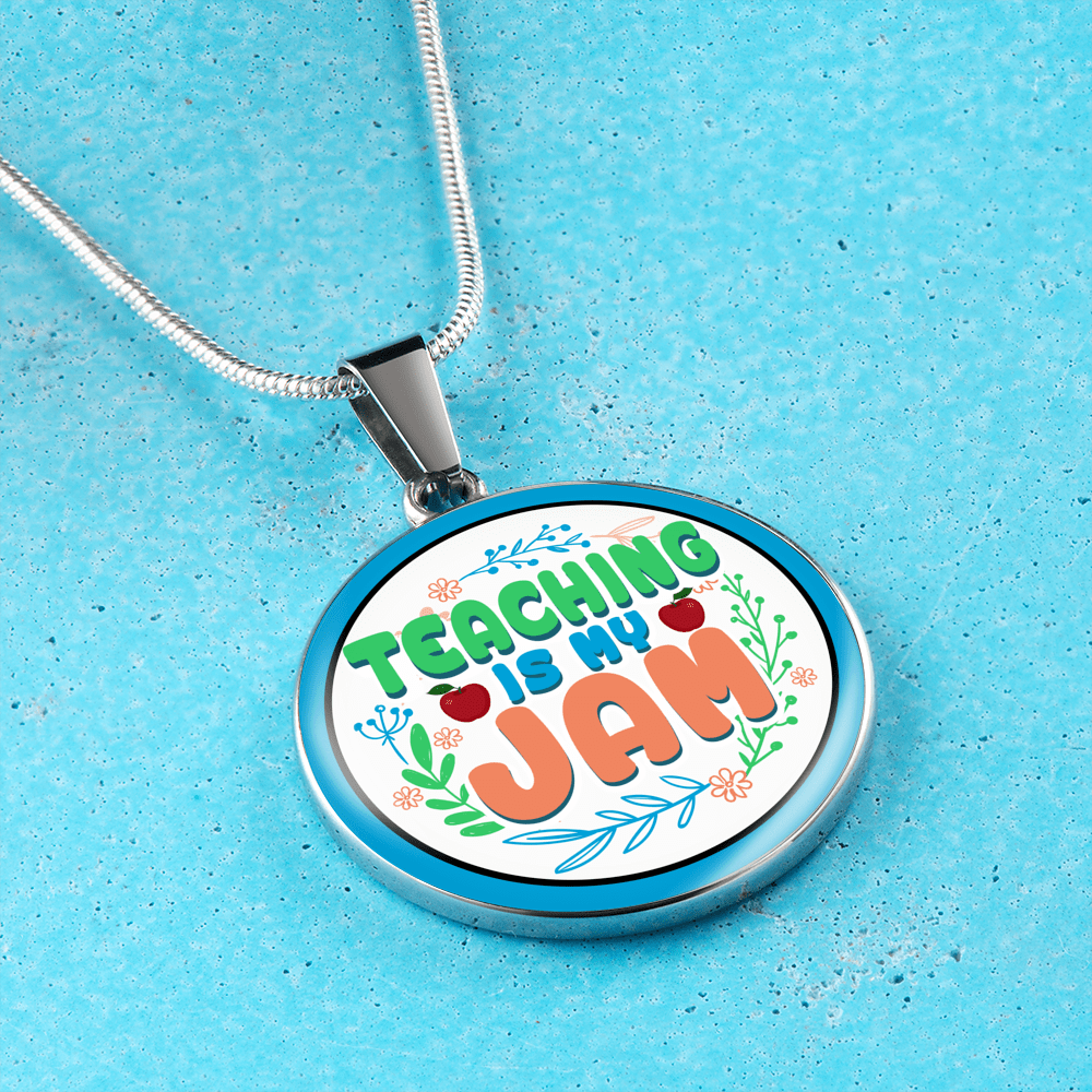 Teaching Is My Jam Necklace - Awesome Librarians