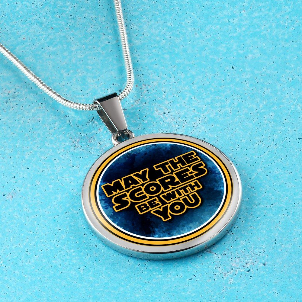 May The Scores Be With You Necklace - Awesome Librarians