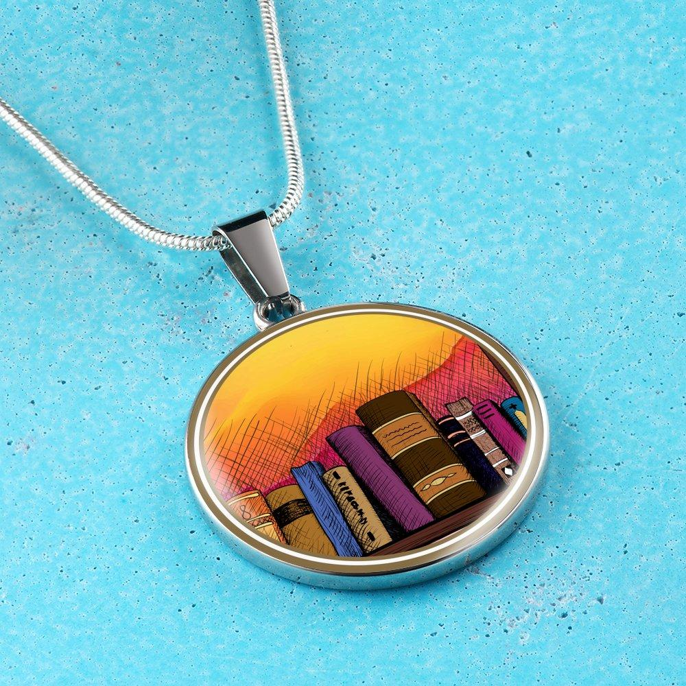 Book Shelf Necklace - Awesome Librarians