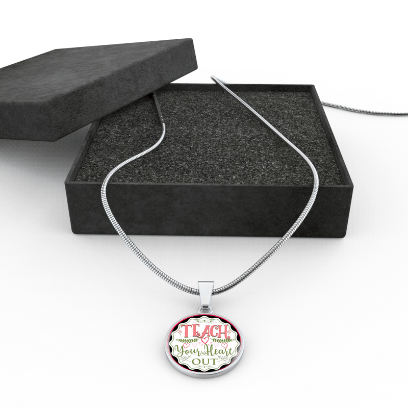 Teach Your Heart Out Necklace - Awesome Librarians