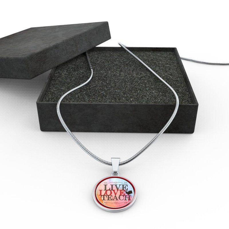 Live Love Teach Necklace - Awesome Librarians